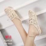 รองเท้าคัทชู เปิดส้น แต่งลูกไม้ทั้งตัวผูกโบว์หน้าสไตล์วินเทจสุดน่ารัก หนังนิ่ม ทรงสวย ใส่สบาย แมทสวยได้ทุกชุด (345-365D)