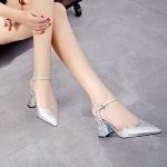 รองเท้าคัทชู ส้นสูง รัดส้น หนังเงาเมทัลลิคสวยหรู ส้นแต่งเคลือบเงาลายเก๋ไฮโซ หนังนิ่ม ทรงสวย ส้นสูงประมาณ 3 นิ้ว ใส่สบาย แมทสวยได้ทุกชุด