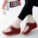 รองเท้าแฟชั่น ส้นเตารีด แบบหนีบ หนังลายแต่งอะไหล่สวยเรียบเก๋มีสไตล์ หนังนิ่ม ทรงสวย สูงประมาณ 2.5 นิ้ว ใส่สบาย แมทสวยได้ทุกชุด (268)