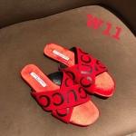 รองเท้าแตะแฟชั่น แบบสวม หน้าไขว้แต่งลายสไตล์กุชชี่สวยเก๋ หนังนิ่ม ทรงสวย ใส่สบาย แมทสวยได้ทุกชุด