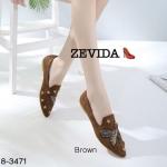 รองเท้าคัทชู ทรงหัวแหลม ส้นแบน หนังสักหราดแต่งกลิสเตอร์ปักรูปผึ้งและอะไหล่ดาวสวยหรูไฮโซ หนังนิ่ม ทรงสวย ใส่สบาย แมทสวยได้ทุกชุด (18-3471)