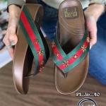 รองเท้าแตะแฟชั่น แบบหนีบ แต่งลายแถบสีสไตล์กุชชี่และอะไหล่เพชรดาวสวยเก๋ พื้นซอฟคอมฟอตนิ่มเพื่อสุขภาพสไตล์ฟิตฟลอบ ใส่สบายมาก แมทสวยได้ทุกชุด (YT139)