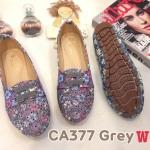 รองเท้าคัทชู ส้นแบน สไตล์ผ้าใบวินเทจ หนังลายดอกไม้แต่งฉลุลายและเชือกด้านหน้าสวยน่ารัก หนังนิ่ม ทรงสวย พื้นยางนิ่มยืดหยุ่น ใส่สบาย แมทสวยได้ทุกชุด (CA377)