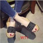 รองเท้าแฟชั่น ส้นเตารีด แบบสวม แต่งคลิสตัลสวยหรู ส้นลายไม้ หนังนิ่ม ทรงสวย สูงประมาณ 4 นิ้ว ใส่สบาย แมทสวยได้ทุกชุด