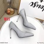 รองเท้าคัทชู ส้นสูง หนังแต่งกลิสเตอร์วิ้งสวยหรู หนังนิ่ม ทรงสวยเรียว สูงประมาณ 4 นิ้ว ใส่สบาย แมทสวยได้ทุกชุด (K2625)