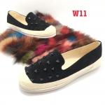 รองเท้าคัทชู ทรง slip on แต่งหมุดด้านหน้า ส้นแต่งเชือกถักสวยเก๋ หนังนิ่ม ทรงสวย ใส่สบาย แมทสวยได้ทุกชุด