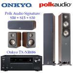 Onkyo TX-NR686 + Polk Audio Signature S50 S15 S30