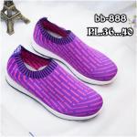 รองเท้าผ้าใบแฟชั่น แต่งสวยเก๋ ผ้าหนานุ่ม ไร้เชือก ใส่ง่าย วัสดุอย่างดี ทรงสวย ใส่สบาย ใส่เที่ยว ออกกำลังกาย แมทสวยเท่ห์ได้ทุกชุด (bb-888)