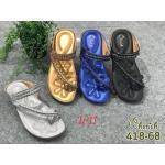 รองเท้าแตะแฟชั่น แบบสวมนิ้วโป้ง แต่งอะไหล่สวยหรู หนังนิ่ม พื้นนิ่มทรงสวย ใส่สบาย แมทสวยได้ทุกชุด (418-68)