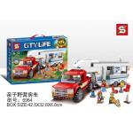 เลโก้จีน SY.6964 ชุด City Pickup & Caravan