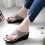 รองเท้าแฟชั่น ส้นเตารีด แบบหนีบ เรียบเก๋ดูดี หนังนิ่ม พื้นนิ่ม งานสวย ใส่สบายมาก ส้นสูง 3 นิ้ว แมทสวยได้ทุกชุด (6093)
