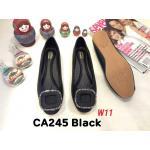 รองเท้าคัทชู ส้นแบน แต่งอะไหล่สวยหรู หนังนิ่ม ทรงสวย ใส่สบาย แมทสวยได้ทุกชุด (CA245)
