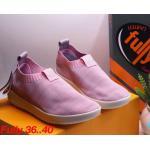 รองเท้าผ้าใบแฟชั่น แต่งลายสีทูโทนสวยเก๋สไตล์แบรนด์ ผ้าหนานุ่ม ไร้เชือก ใส่ง่าย วัสดุอย่างดี ทรงสวย ใส่สบาย ใส่เที่ยว ออกกำลังกาย แมทสวยเท่ห์ได้ทุกชุด (F007)