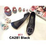 รองเท้าคัทชู ส้นเตารีด แต่งอะไหล่สวยหรู หนังนิ่ม ทรงสวย สูงประมาณ 2 นิ้ว ใส่สบาย แมทสวยได้ทุกชุด (CA281)
