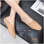 รองเท้าคัทชู เปิดส้น ทรงหุ้มหน้าเท้าสวยเรียบเก๋มีสไตล์ หนังนิ่ม ทรงสวย ใส่สบาย แมทสวยได้ทุกชุด (2015-269)