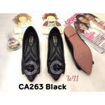 รองเท้าคัทชู ส้นแบน แต่งอะไหล่สวยหรู หนังนิ่ม ทรงสวย ใส่สบาย แมทสวยได้ทุกชุด (CA263)