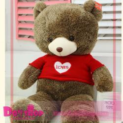 ตุ๊กตาหมีใส่เสื้อ I LOVE YOU 1.2 เมตร