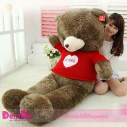 ตุ๊กตาหมีใส่เสื้อ I LOVE YOU 1.8 เมตร