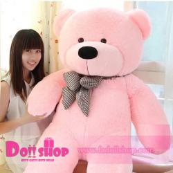 ตุ๊กตาหมียิ้ม pink 1.8 เมตร