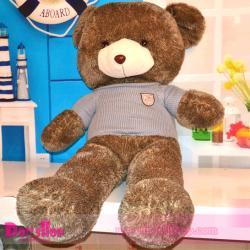 ตุ๊กตาหมีใส่เสื้อฟ้า 1.8 เมตร
