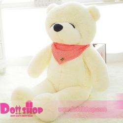 ตุ๊กตาหมีหลับ White 1.4 เมตร