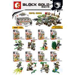 เลโก้จีน Sembo.11537-11544 ชุด Block Gold