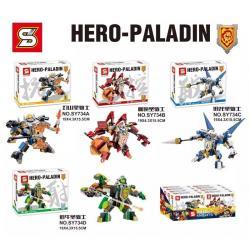 เลโก้จีน SY 734A-D ชุด NEXO Knights Hero Paladin