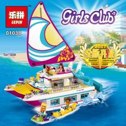 เลโก้จีน LEPIN.01038 ชุด Friends Sunshine Catamaran