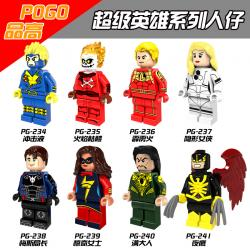 เลโก้จีน POGO.234-241 ชุด Super Heroes (สินค้ามือ 1 ไม่มีกล่อง)