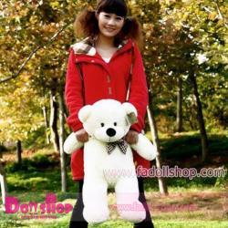 ตุ๊กตาหมียิ้ม white 0.8 เมตร