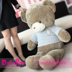 ตุ๊กตาหมีใส่เสื้อสีฟ้า 1.6 เมตร
