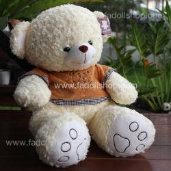 ตุ๊กตาหมีป๊อบปูล่าสีครีม 65 เซนติเมตร
