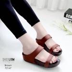 รองเท้าแตะแฟชั่น เพื่อสุขภาพ แบบสวม สวยเก๋ พื้นซอฟคอมฟอตนุ่มสไตล์ฟิตฟลอบ ใส่สบาย แมทเก๋ได้ทุกวัน (Pf2147)