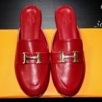 รองเท้าคัทชู เปิดส้น แต่งอะไหล่ H เรียบหรูสไตล์แอร์เมส หนังนิ่ม ทรงสวย ใส่สบาย แมทสวยได้ทุกชุด