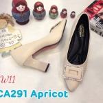 รองเท้าคัทชู ส้นสูง แต่งอะไหล่สวยเก๋ ส้นเหลี่ยมเก๋ดูดี หนังนิ่ม ทรงสวย สูงประมาณ 3 นิ้ว ใส่สบาย แมทสวยได้ทุกชุด (CA291)