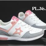 รองเท้าผ้าใบแฟชั่น แต่งลายสวยเก๋สไตล์เกาหลี วัสดุอย่างดี ทรงสวย ใส่สบาย ใส่เที่ยว ออกกำลังกาย แมทสวยเท่ห์ได้ทุกชุด