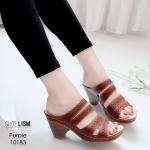 รองเท้าแฟชั่น ส้นเตี้ย แบบสวม แต่งลายฉลุสวยคลาสสิค สไตล์เพื่อสุขภาพ ใส่แล้วสวยเด่น เสริมบุคลิกด้วยส้นเลดี้ เย็บรอบรองเท้า ใส่ทน พื้นบุซัพพอร์ทนิ่ม หนังนิ่ม ทรงสวย สูงประมาณ 2.5 นิ้ว ใส่สบาย แมทสวยได้ทุกชุด (10183)