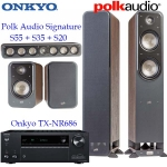 Onkyo TX-NR686 + Polk Audio Signature S55 S20 S35