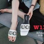 รองเท้าแตะแฟชั่น แบบสวม แต่งลายสไตล์กุชชี่สวยเก๋ไฮโซ หนังนิ่ม ทรงสวย ใส่สบาย แมทสวยได้ทุกชุด (D-18)