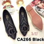 รองเท้าคัทชู ส้นเตี้ย แต่งอะไหล่สวยหรู หนังนิ่ม ทรงสวย ใส่สบาย แมทสวยได้ทุกชุด (CA266)