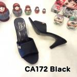 รองเท้าแฟชั่น ส้นสูง แบบสวม แต่งอะไหล่สวยเรียบหรู หนังนิ่ม ทรงสวย ส้นสูงประมาณ 3 นิ้ว ใส่สบาย แมทสวยได้ทุกชุด (CA172)