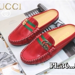 รองเท้าคัทชู เปิดส้น ทรง loafer แต่งอะไหล่สไตล์กุชชี่สวยเก๋ หนังนิ่ม ทรงสวย ใส่สบาย แมทสวยได้ทุกชุด