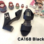 รองเท้าแฟชั่น ส้นสูง แบบสวม แต่งอะไหล่สวยเรียบหรู หนังนิ่ม ทรงสวย ส้นสูงประมาณ 3 นิ้ว ใส่สบาย แมทสวยได้ทุกชุด (CA168)