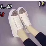 รองเท้าผ้าใบแฟชั่น แต่งกลิสเตอร์ สวยเรียบเก๋ วัสดุอย่างดี ทรงสวย ใส่สบาย ใส่เที่ยว ออกกำลังกาย แมทสวยเท่ห์ได้ทุกชุด (M-3)