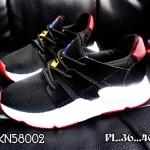 รองเท้าผ้าใบแฟชั่น แต่งลายสไตล์เกาหลีสวยเก๋ วัสดุอย่างดี ใส่เที่ยว ออกกำลังกาย ใส่สบาย แมทสวยได้ทุกชุด (CKN58002)