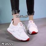รองเท้าผ้าใบแฟชั่น แต่งลายสไตล์เกาหลีสวยเก๋ วัสดุอย่างดี ใส่เที่ยว ออกกำลังกาย ใส่สบาย แมทสวยได้ทุกชุด (M58001)