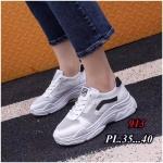 รองเท้าผ้าใบแฟชั่น แต่งลายเก๋สไตล์เกาหลี วัสดุอย่างดี ทรงสวย ใส่สบาย ใส่เที่ยว ออกกำลังกาย แมทสวยเท่ห์ได้ทุกชุด (913)