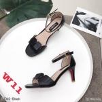 รองเท้าแฟชั่น ส้นสูง แบบสวม รัดข้อ ดีไซน์สวยเรียบเก๋ หนังนิ่ม ทรงสวย สูงประมาณ 3 นิ้ว ใส่สบาย แมทสวยได้ทุกชุด (K9342)