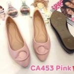 รองเท้าคัทชู ส้นแบน แต่งอะไหล่สวยเก๋ หนังนิ่ม ทรงสวย ใส่สบาย แมทสวยได้ทุกชุด (CA453)