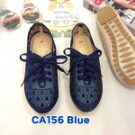รองเท้าผ้าใบแฟชั่น แต่งฉลุลายสวยหวานสไตล์วินเทจ หนังนิ่ม พื้นยางกันลื่นนิ่มยืดหยุ่น ใส่สบาย แมทสวยได้ทุกชุด (CA156)